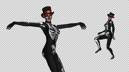Skeleton Dance - Creepy Solo - 4K