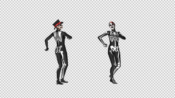 Skeleton Dance - Creepy and Sexy Duo