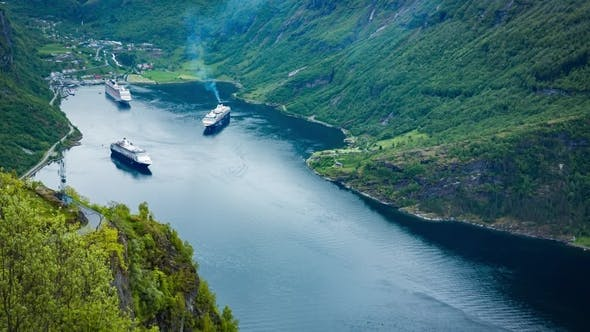 Thumbnail for Geiranger Fjord, Norway Aerial Photography