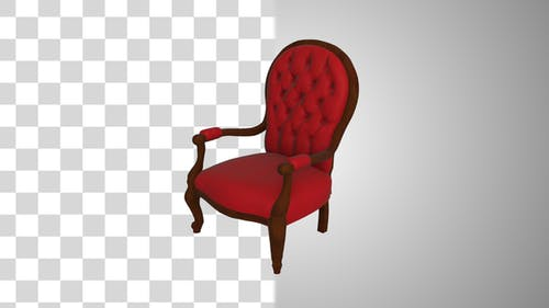Red Chair Rotating