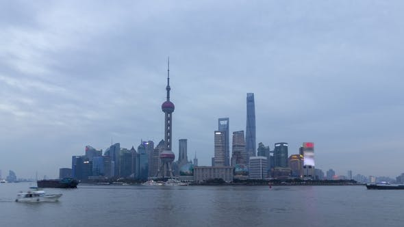 Thumbnail for Shanghai Skyline. Lujiazui District and Huangpu River