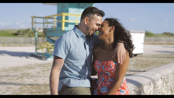 Thumbnail for Happy Multiracial Couple on Seafront