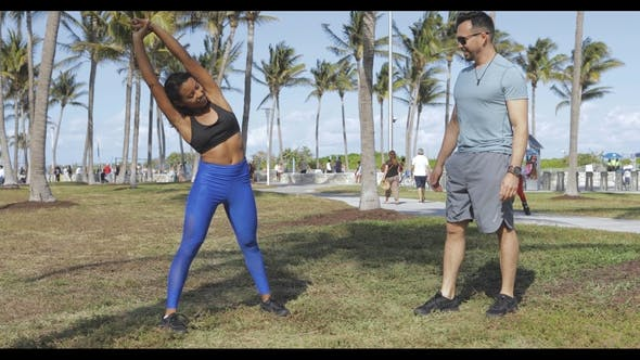 Thumbnail for Content Woman Working Out with Man