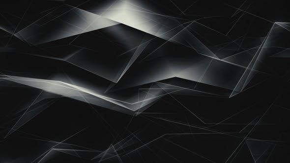 Thumbnail for White and Black Geometrical Shapes Refraction
