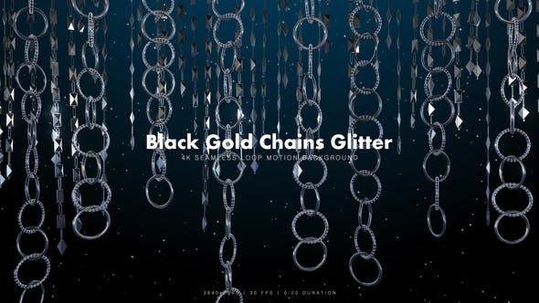 Thumbnail for Black Gold Chains Glitter 8