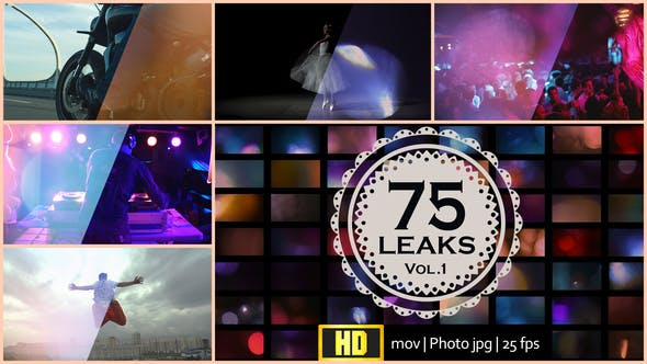 Thumbnail for 75 Real Light Leaks and Bokeh