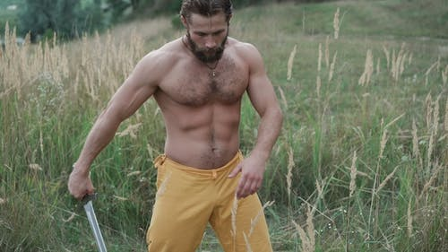 Modern Cossack Workouts with Swords in the Fields