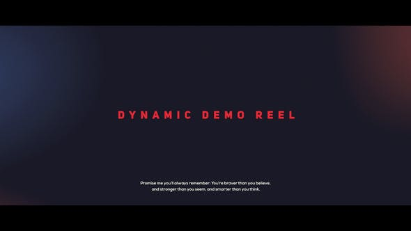 Thumbnail for Dynamic Demo Reel