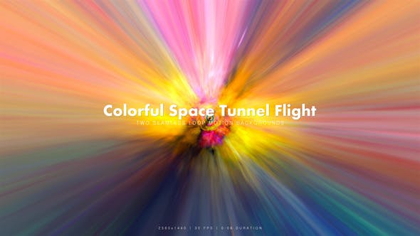 Thumbnail for Colorful Space Tunnel Flight 11