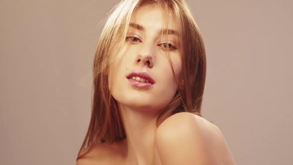 Natürliche Pflege Blonde Frau Beauty Spa Perfekte Haut