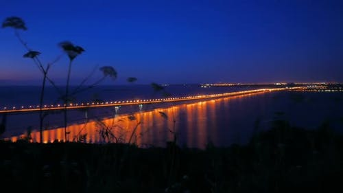Sea Bridge bei Nacht