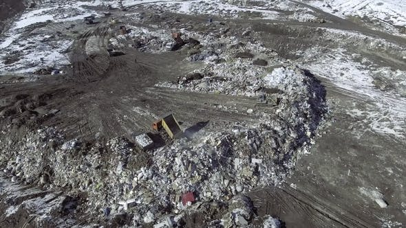 Thumbnail for Movie of a Truck Working in a Landfill