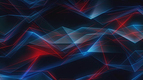 Thumbnail for Abstract Red and Dark Blue Geometric Shapes Background Loop