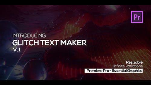 Glitch Text Maker for Premiere Pro + Sound FX