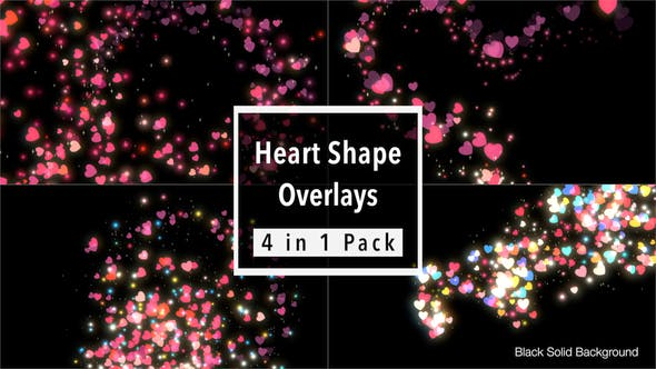 Thumbnail for Heart Shape Overlays Pack
