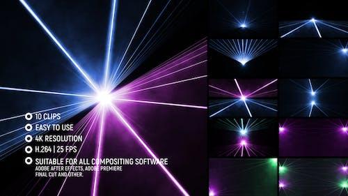 Laser-Licht-Show 4K
