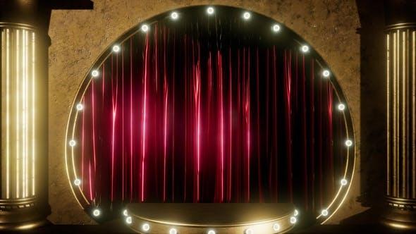Thumbnail for Samt Vorhang Bühne