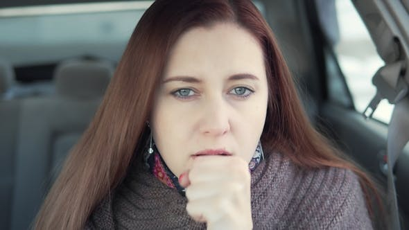 Thumbnail for Woman Coughing in the Car