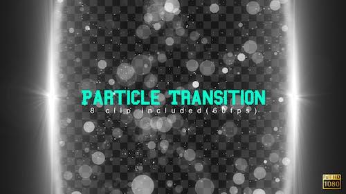 Particle glitzernde Übergänge