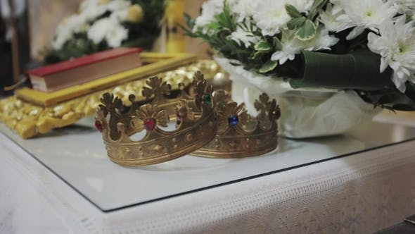 Thumbnail for Two Crowns for Wedding Ceremony in the Church