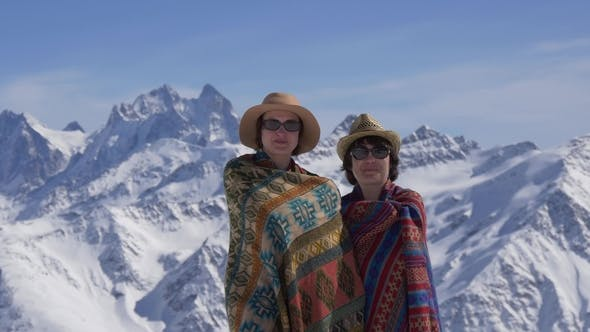 Thumbnail for Women Rolled in Blankets in the Mountains