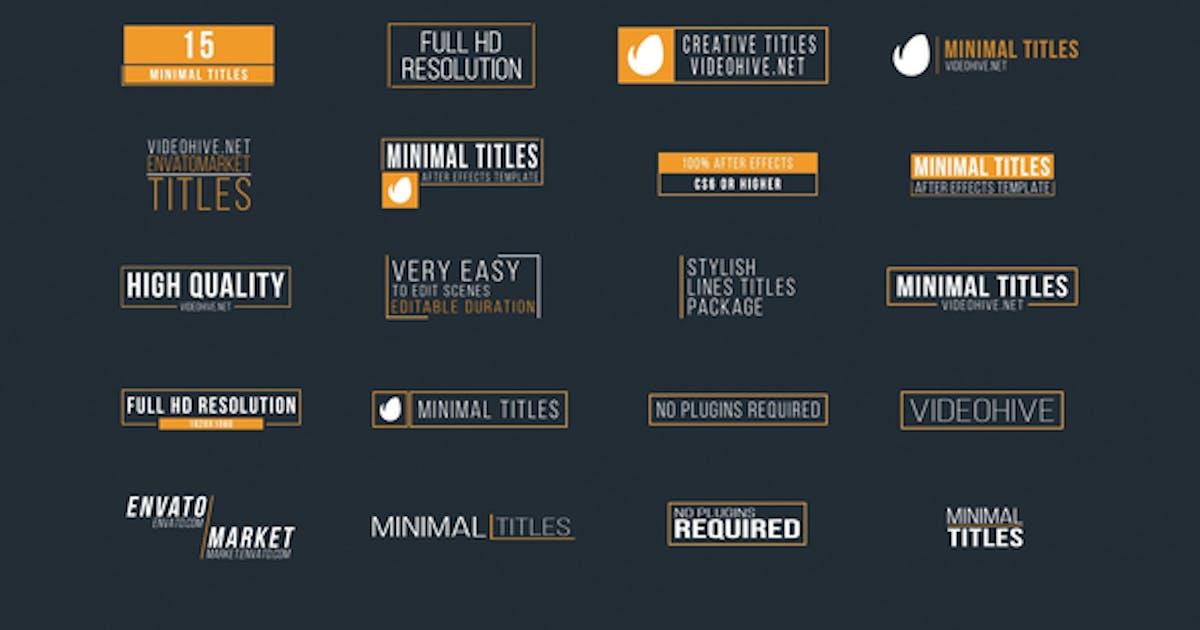 Download 20 Minimal Titles by George_Fx