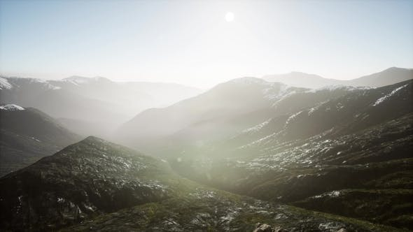 Thumbnail for Mountains in Fog at Sunset