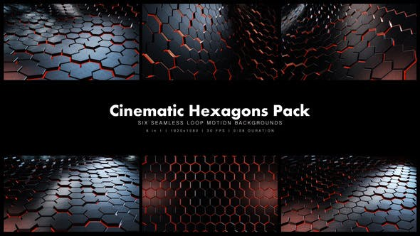 Thumbnail for Cinematic Hexagons Red Pack