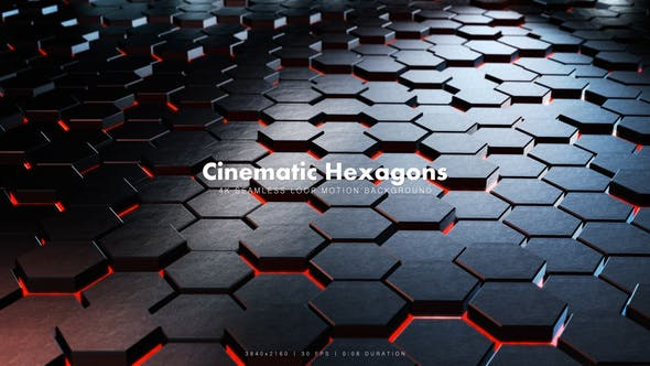 Thumbnail for Cinematic Hexagons Red 10
