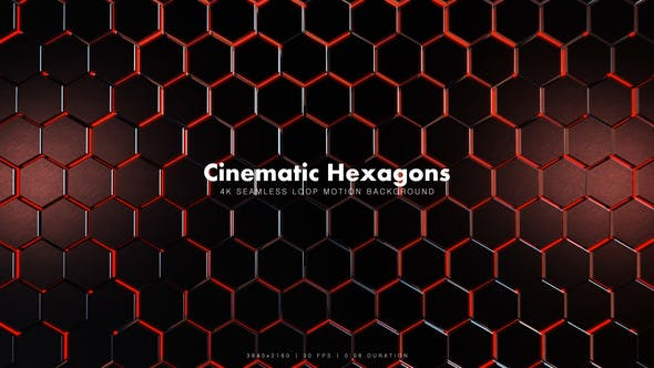 Thumbnail for Cinematic Hexagons Red 12