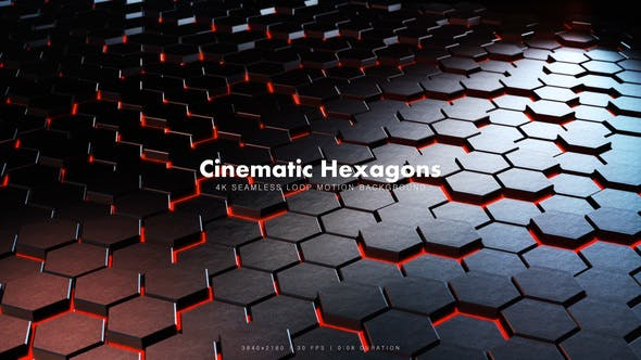 Thumbnail for Cinematic Hexagons Red 11