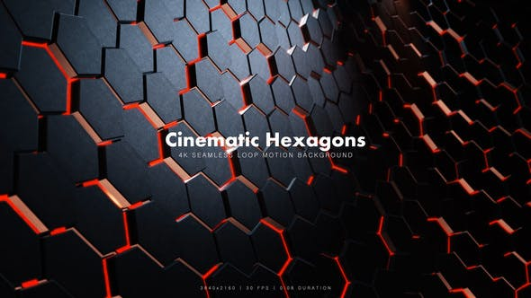 Thumbnail for Cinematic Hexagons Red 9