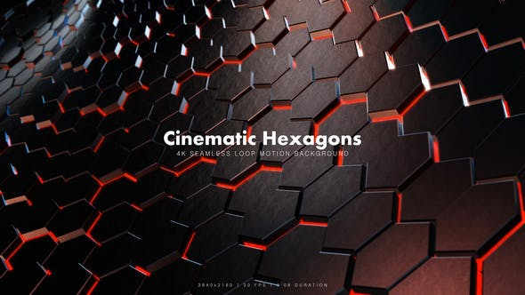 Thumbnail for Cinematic Hexagons Red 8