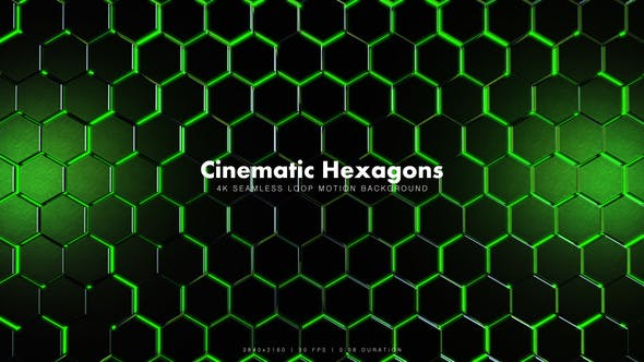 Thumbnail for Cinematic Hexagons Green 5