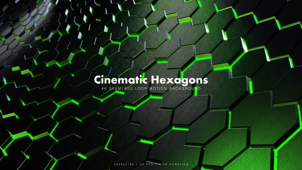 Thumbnail for Cinematic Hexagons Green 2