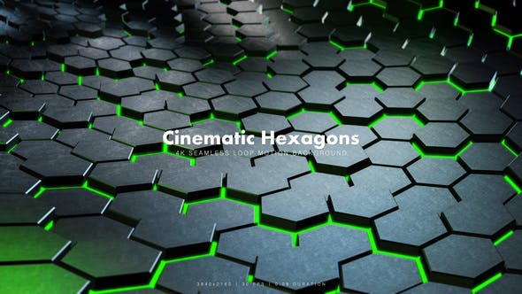 Thumbnail for Cinematic Hexagons Green