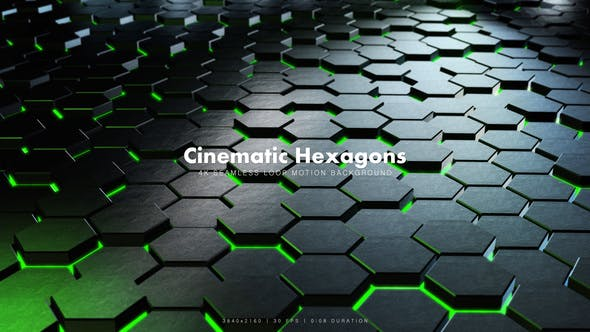 Thumbnail for Cinematic Hexagons Green 4