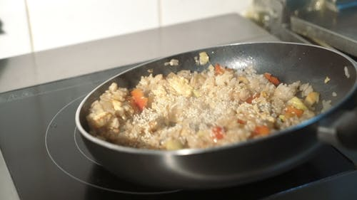 Vegetable Stir Fry in Frying Pan