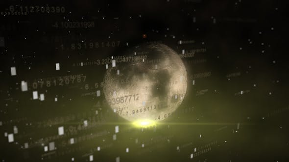 Thumbnail for Futuristic HUD Number with Moon
