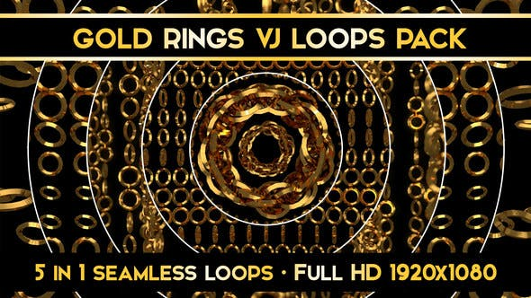 Thumbnail for Gold Ring Visual Loops Pack