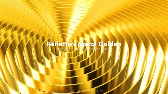 Thumbnail for Reflective Spiral Golden 5