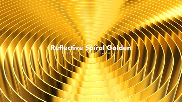 Thumbnail for Reflective Spiral Golden 4