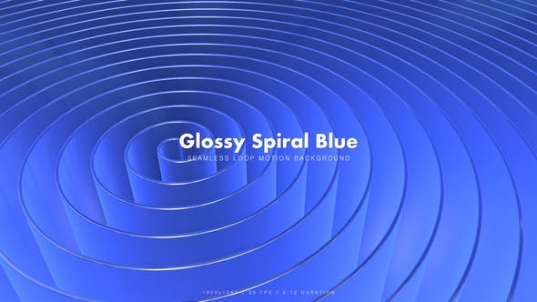 Thumbnail for Glossy Spiral Blue 3