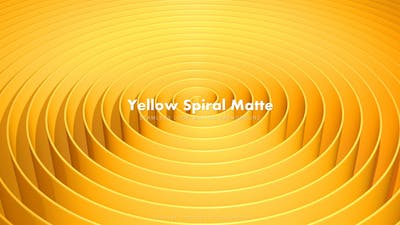 Yellow Spiral Matte 2