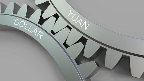 YUAN and DOLLAR Words on Meshing Gears