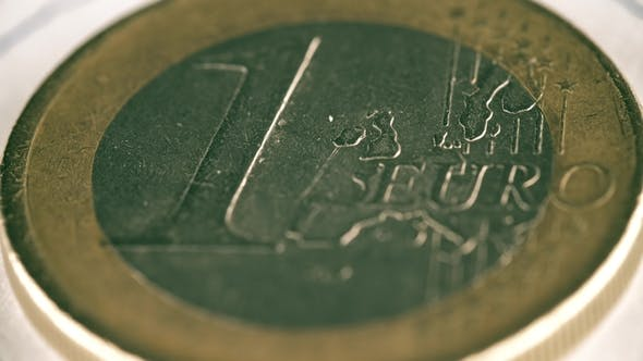 Thumbnail for Rotating Scratched One Euro Coin