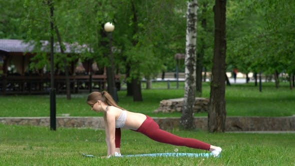 Thumbnail for Young Girl Doing Exercises