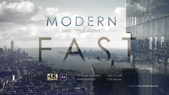 Tipografía moderna rápida