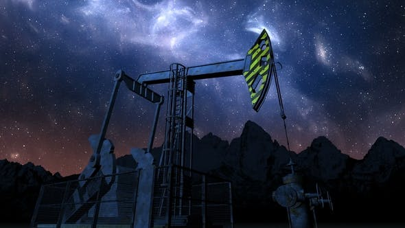 Thumbnail for Oil Pump Jack Under Night Sky