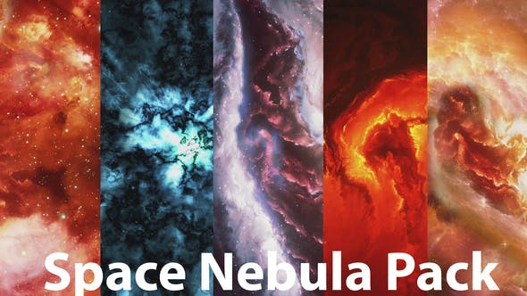 Thumbnail for Beautiful Colorful Space Nebula Pack
